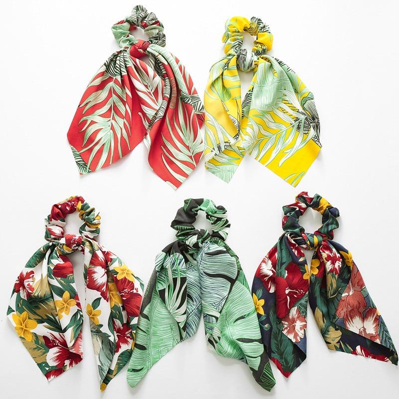 MINHIN, varios estilos, tocados para mujer, turbante DIY, cintas para el pelo con lazo, coletas con cola de caballo, accesorios para el cabello con flores