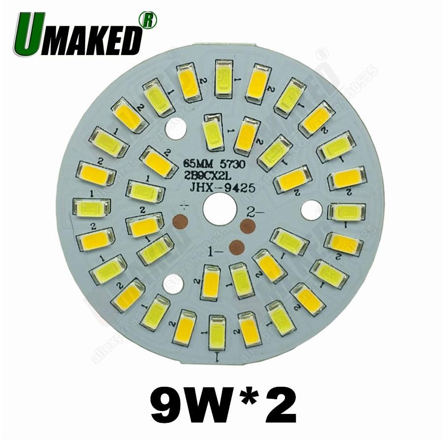 9W 63mm led-lampe dimmen PCB board, Mix farbe aluminium platte basis, schalter dimmen bord für downlight 3 5 7 9 12 15 18 verfügbar