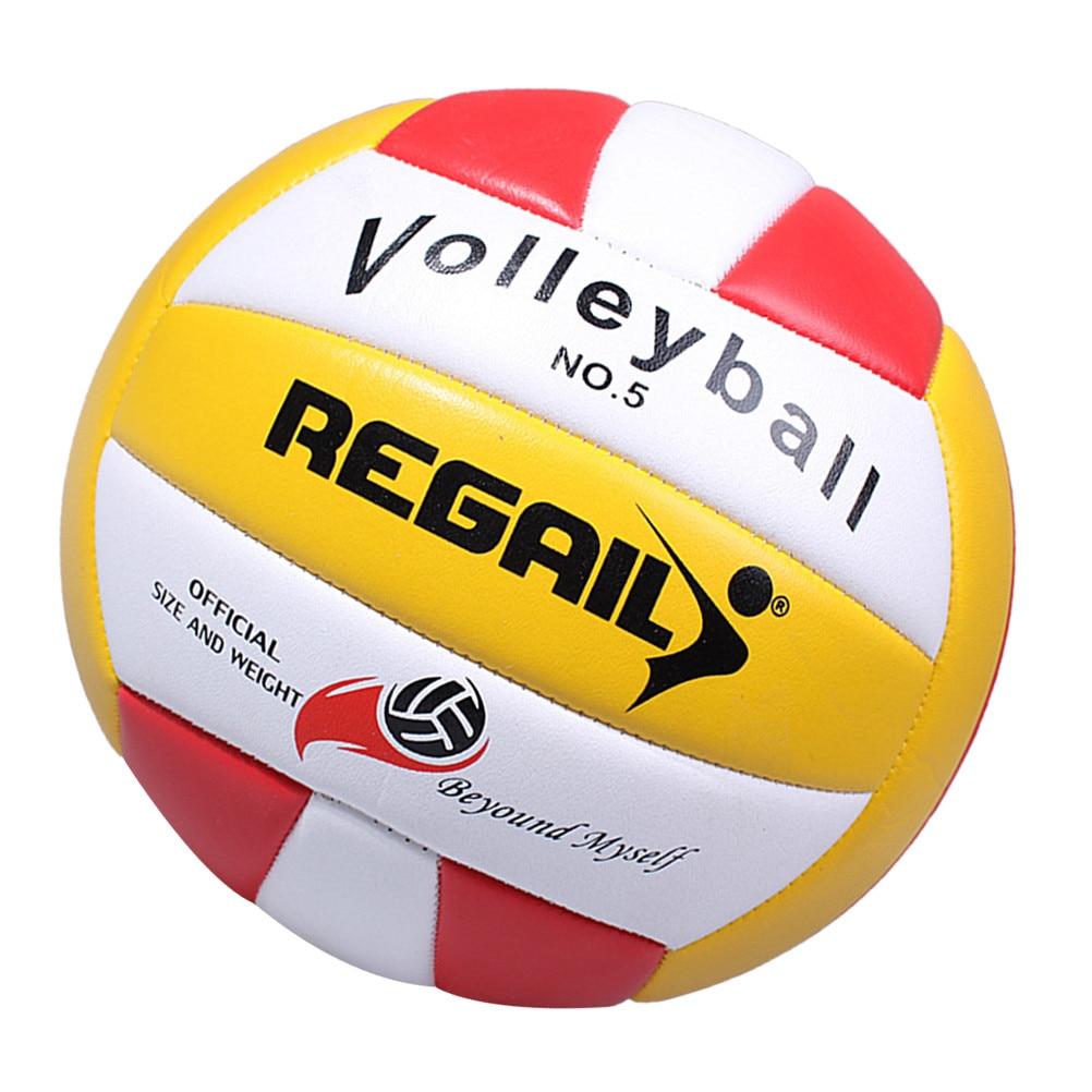 Мягкий полиуретановый мяч, волейбол, тренировочный спортивный стандартный мяч для игр на открытом воздухе, 1 шт., мягкий спортивный мяч из по...