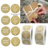 500pcs cute 1inch thank you kraft paper sticekr hand mand especially for you student gift sealling label sticker