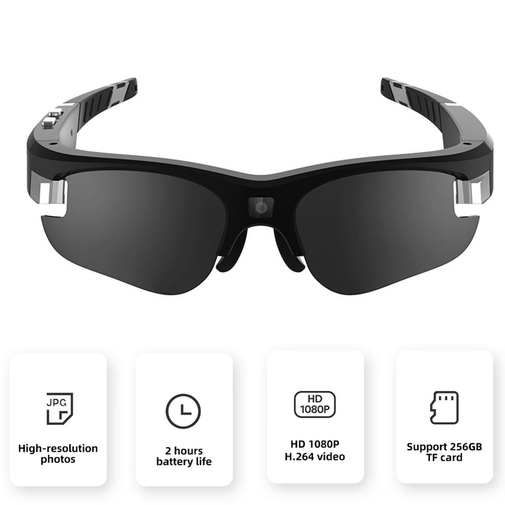 HD Lightweight Riding Glasses DVR Video Sunglasses Driving Record Cycling Video Camera Glasses 256GB Recorder Sports Accessories