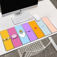 adventure time mouse pad gaming mouse pad large cartoon anime rubber mouse pad keyboard table mat pc mousepads with lock edge