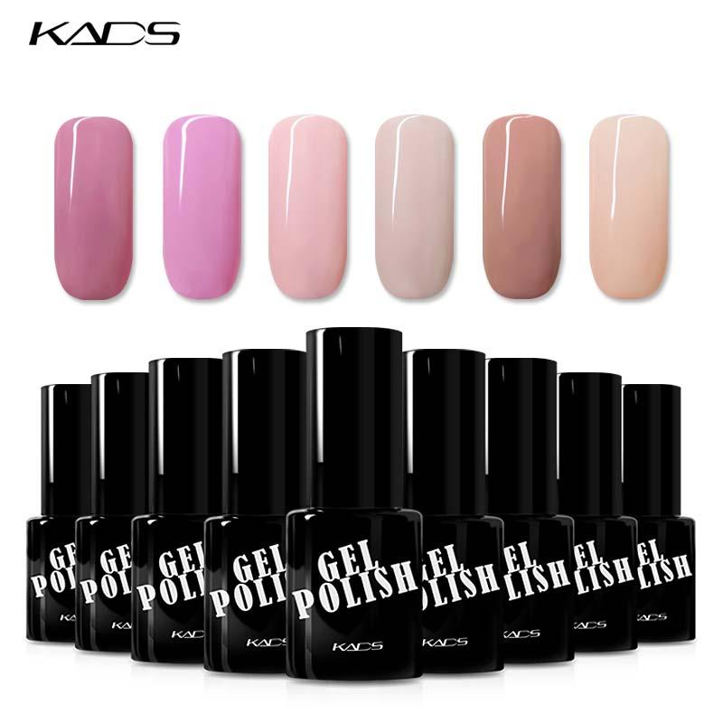 KADS 9,5 ml Gel esmalte de uñas Serie Rosa UV lámpara LED Gel polaco laca Semi permanente uñas pegamento Gel pulido Vernis