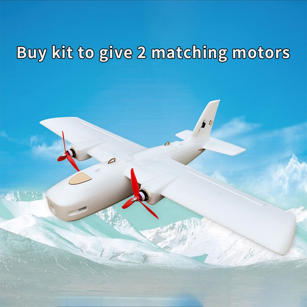 New DF Great White Shark Wingspan 1116mm FPV Flying Wing EPP Foam Twin Motor UAV RC Airplane for Kid