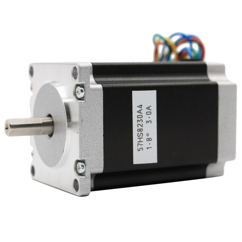 de ship free vat 4 pcs nema23 425oz in 2 8n m 112mm length single shaft stepper motor stepping motor 3a for cnc router engraving Nema 23 Cnc Stepper Motor 57x82Mm 3A 2.2N.315Oz-In Nema23 Cnc Router Engraving Milling Machine 3D Printer