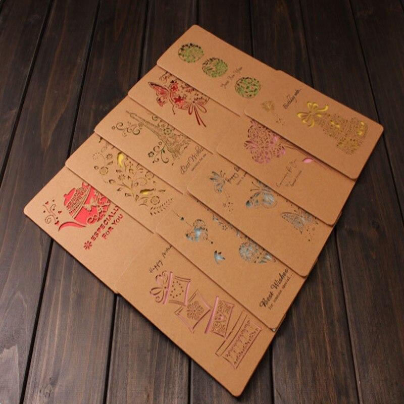 Бесплатная доставка, 50 шт./лот, конверт с надписью, поздравительная открытка, открытка с благодарностью, Рождественская открытка, открытка н...