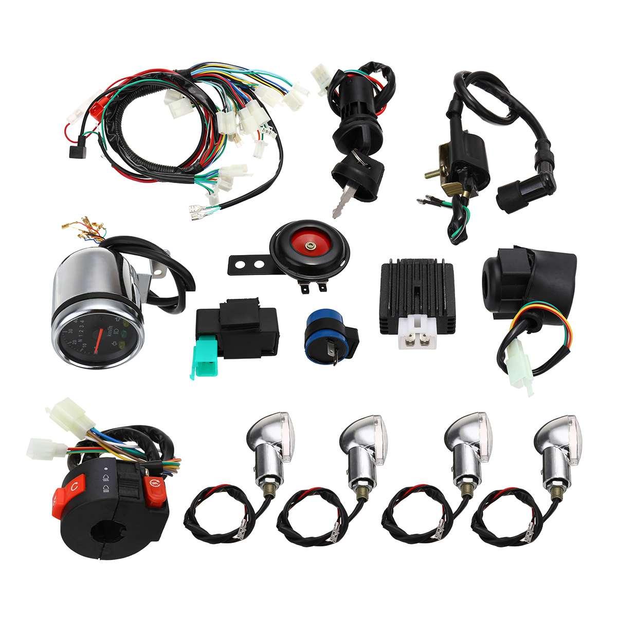 طقم أسلاك CDI للدراجات النارية ، طقم نول لـ 50cc 110cc 125cc Dirt Pit Bike ATV Quad Go-kart