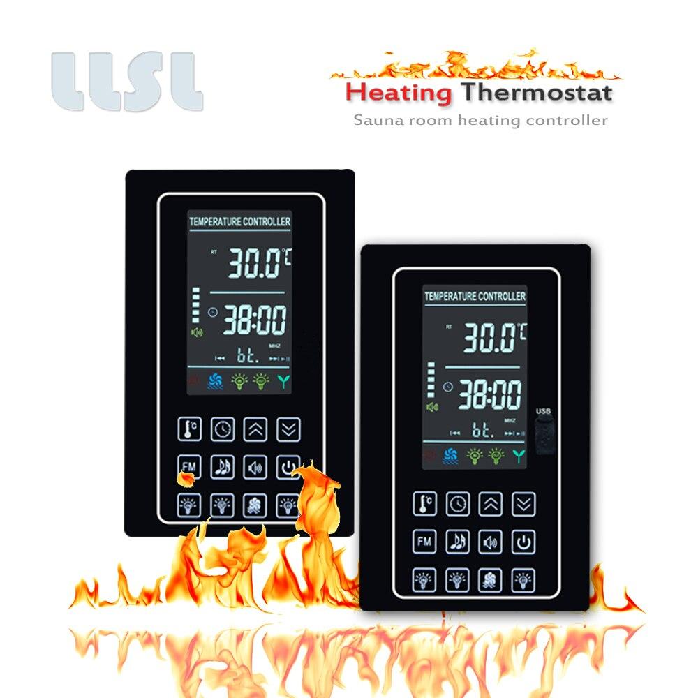 30A التدفئة متحكم في درجة الحرارة للبخار ساونا معدات التدفئة ، شاشة LCD ملونة ساونا التحكم في درجة الحرارة ترموستات