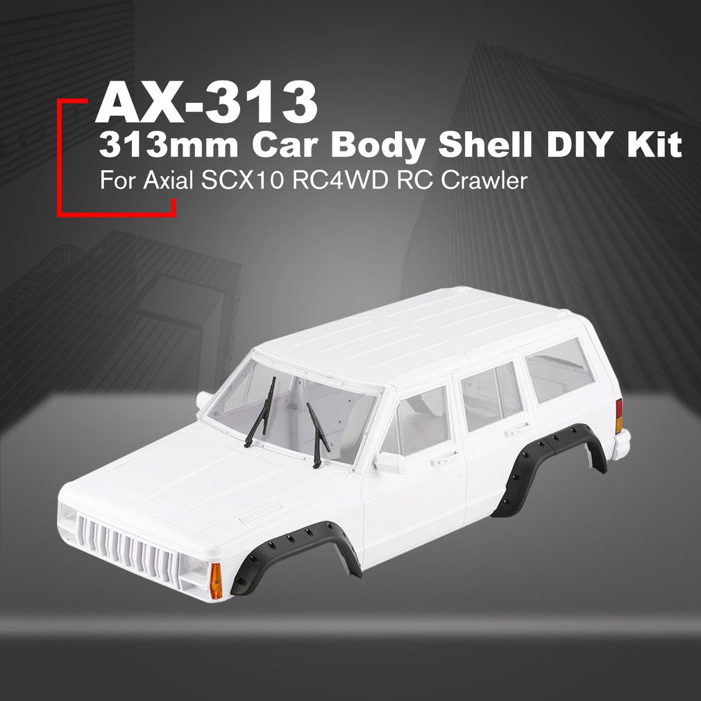 AX-313 12,3 inch/313mm Radstand Körper Shell DIY Kit für 1/10 RC Lkw Crawler Axial SCX10 & SCX10 II 90046 90047