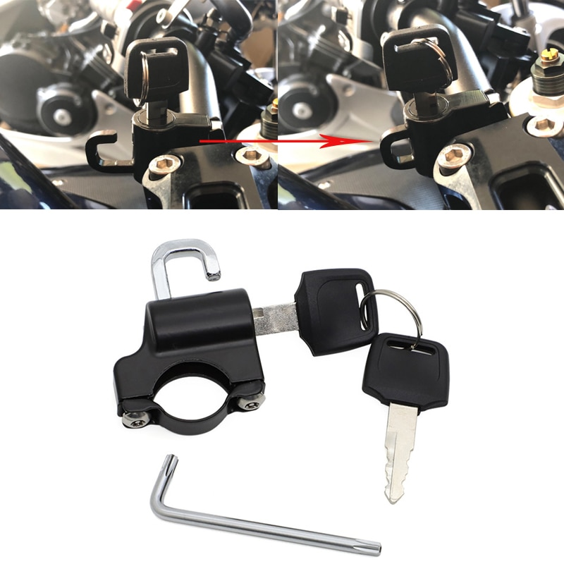Anti-theft Helmet Lock Security For 7/8'' 22mm Handlebar fit Honda Yamaha Kawasaki Suzuki Victory Motorcycle dIrt bike