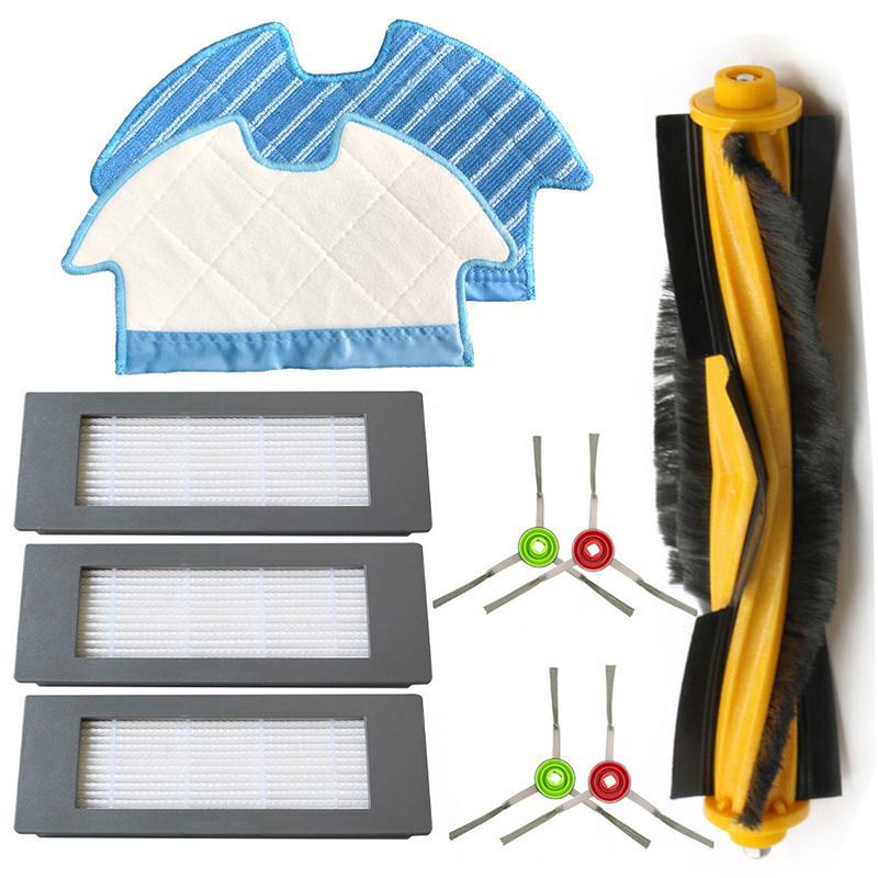 4 * seite Pinsel + 3 * Filter + 2 * Mopp Tuch + 1 * Roller Pinsel Für Ecovacs deebot Ozmo 900 Filter Pinsel Mopp Tuch Set Staubsauger Teile