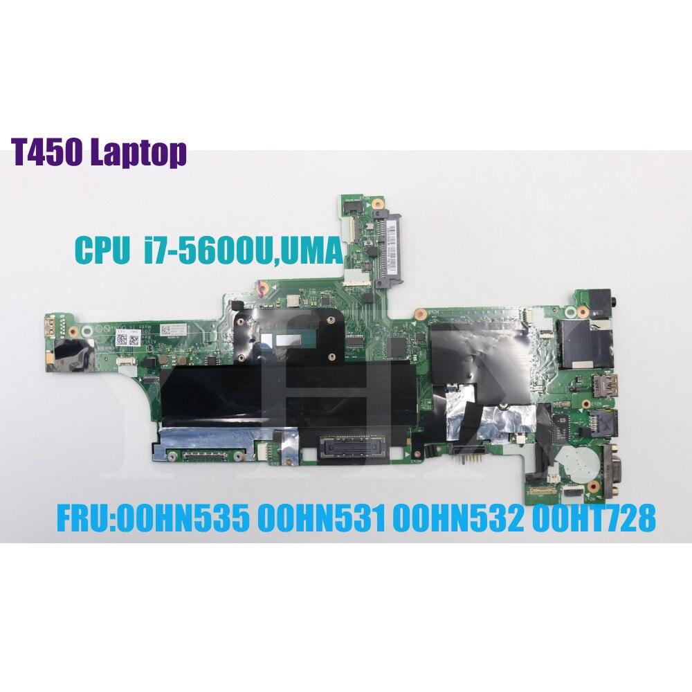 For Lenovo Thinkpad T450 laptop  NM-A251  motherboard Mainboard 20BV 20BU 20DJ CPU:I7-5600U FRU 00HN531 00HN535 00HT728