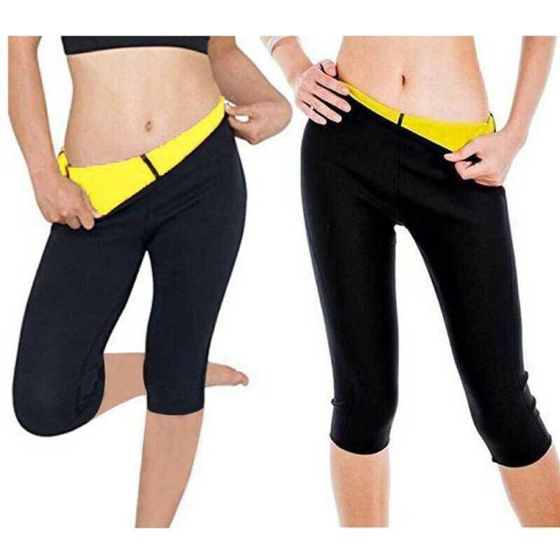 Woman Sports Pants Neoprene Body Shaper Stretch Slimming Pants Sauna Suit Fitness Slim Pants High Wa