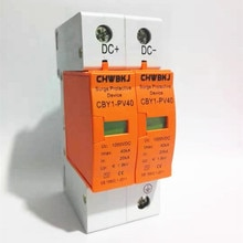 SPD DC 500V 800V 1000V dispositivo di protezione da sovratensione 2 P 20KA ~ 40KA scaricatore a bassa tensione House din rail 2 poli Protector DC1000V