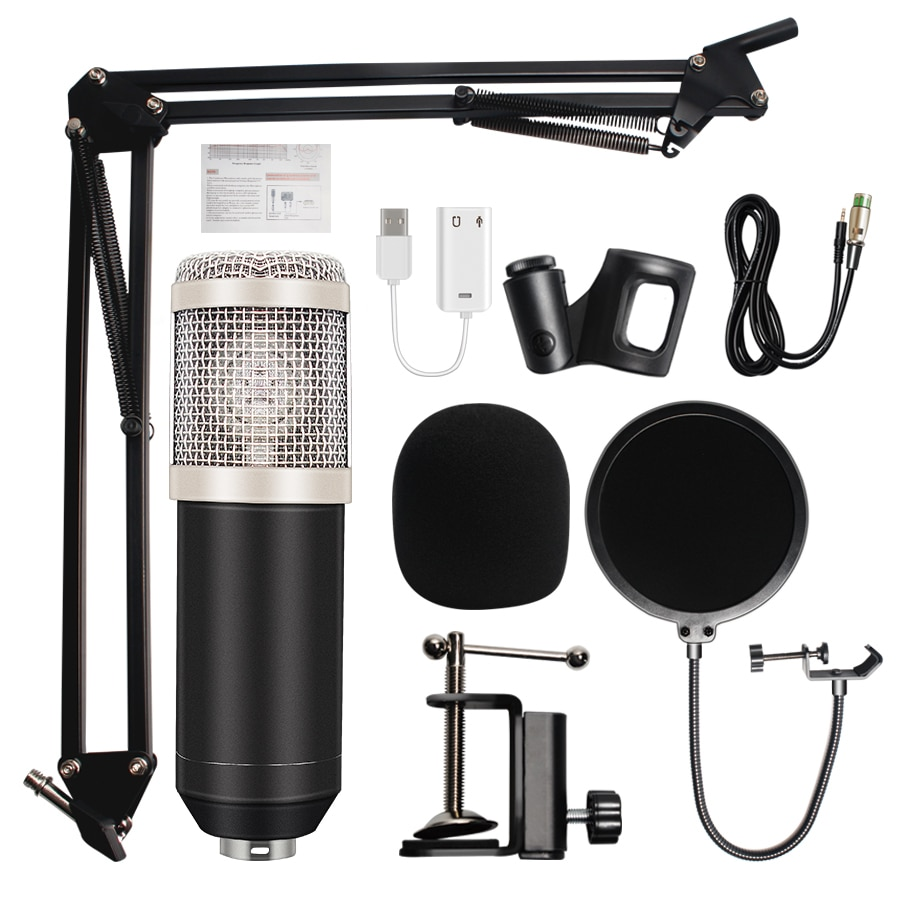 microfone bm 800 Studio Microphone Professional microfone bm800 Condenser Sound Recording Microphone For computer enlarge