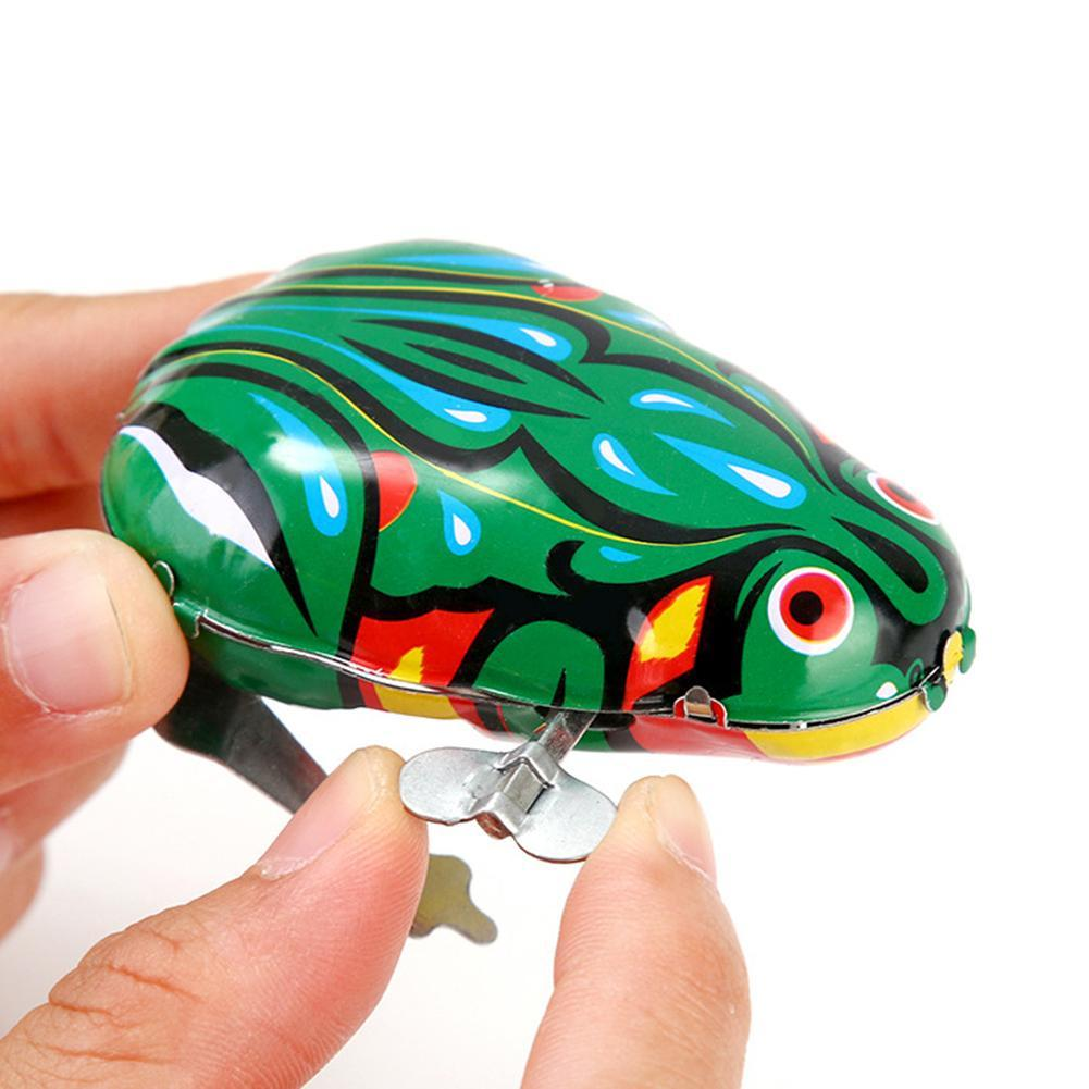 Kids Classic Wind Up Clockwork Toy Jumping Frog Children Boys Kids Educational Toys for Children Gifts недорого