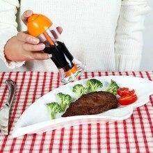 NewNew bouteille dhuile de Sauce soja   Pot à huile Transparent de cuisine de 150ml, bouteille de vinaigre anti-poussière et étanche, bouteille dhuile de Sauce soja domestique