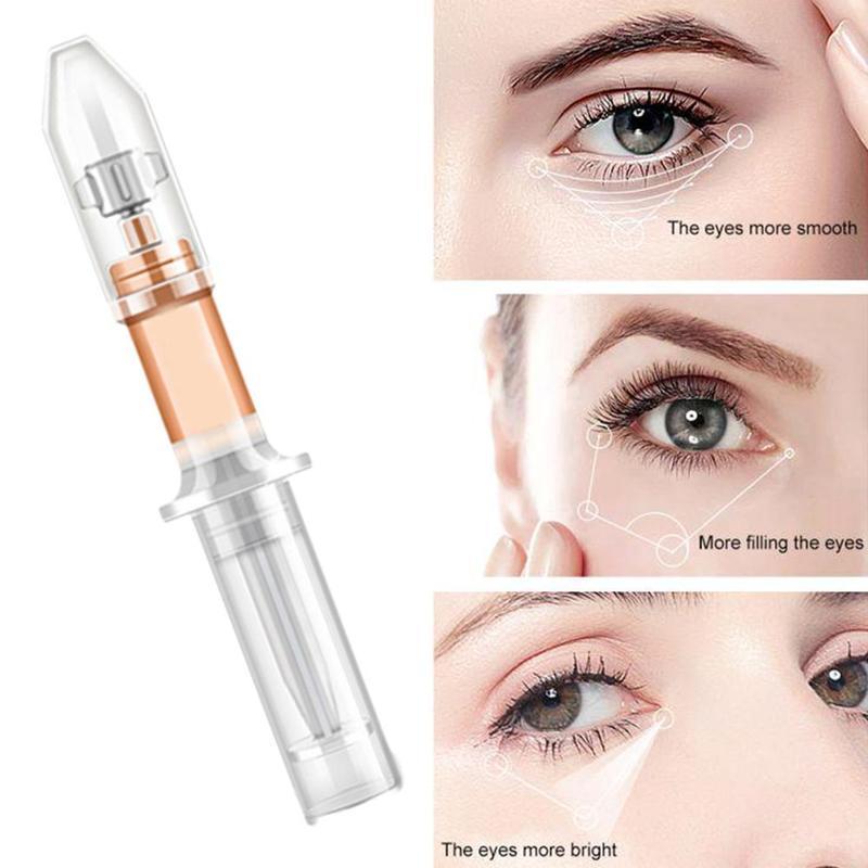 2 minutos saco de olho remoção creme anti inchaço rugas efeito duradouro linhas finas círculos escuros remover creme para os olhos cuidados 1pc