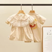 baby sister brother clothes summer fashion boys cartoon romper jumpsuits infant girls lace dress childrens matching clothing