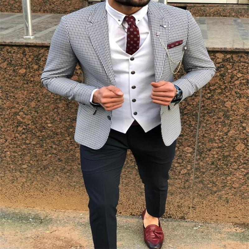 New Arrival Two Buttons Groomsmen Notch Lapel Groom Tuxedos Men Suits Wedding/Prom Best Blazer ( Jacket+Pants+Vest+Tie) C117