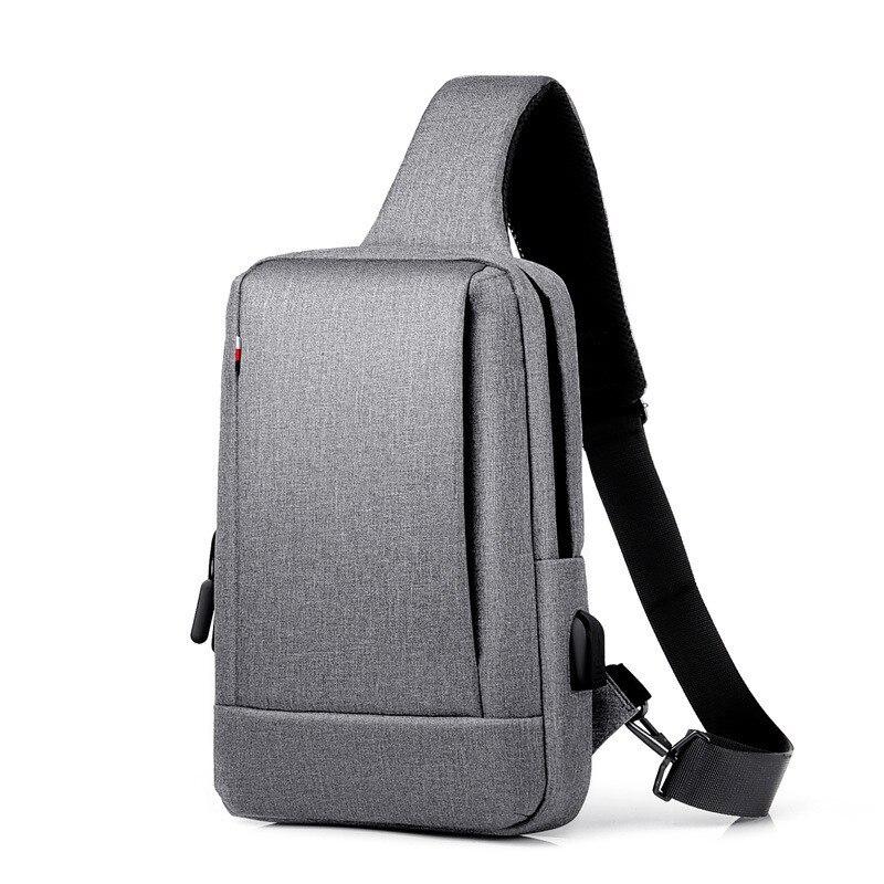 Oxford – sac à bandoulière étanche pour hommes, sacoche chargeur USB, sac de poitrine extérieur, paquet de voyage, sacoches