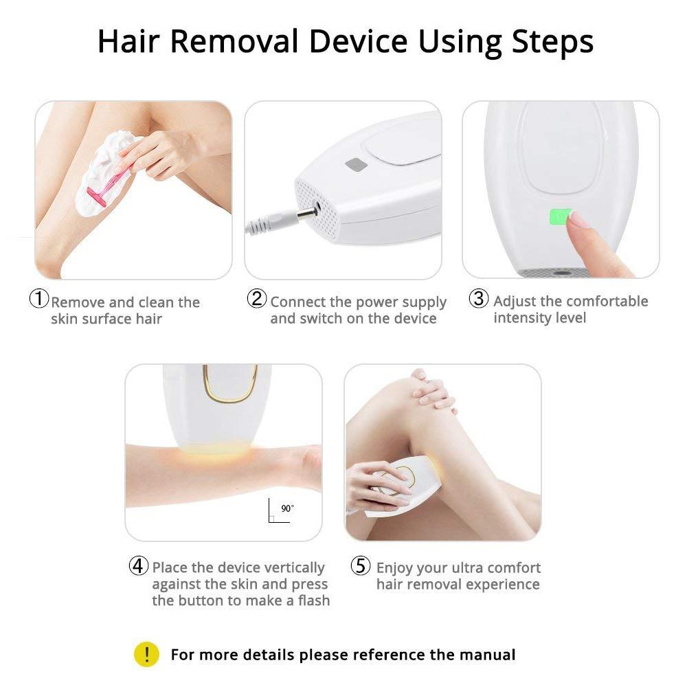 Home Hold Depilatory Laser Mini Hair Epilator Permanent Hair Removal IPL System 500000 Shot Light Pulses Whole Body Hair Remover enlarge