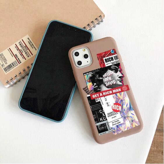 حافظة هاتف بتصميم ريترو لهواتف آيفون 11 برو ماكس SE 2020 7 8 plus 6S XR XS غطاء لين من البولي يوريثان Fundas كابا الفني ديفيد لهاتف آيفون 12