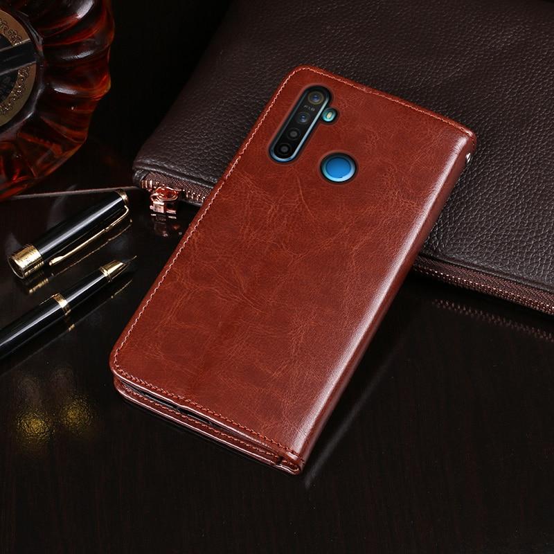 Flip case for OPPO Realme 5i smartphone leather back cover shockproof phone case on Realme 5i housing