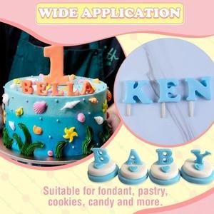 Fondant Cake Alphabet Plunger Set A-Z 0-9 DIY Cake Stamp Mold Cakes Cookies Pastries Mold for Cake Decoration Making HUG