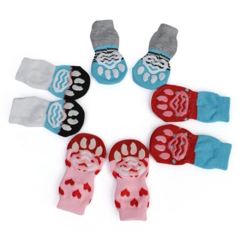 4pcs copati copati nedrseče nogavice hišne ljubke notranje za - Izdelki za hišne ljubljenčke - Fotografija 4