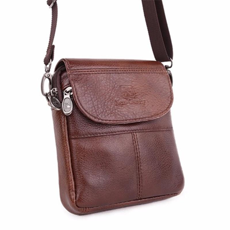 Vintage brand mini portable leather men bags high quality natural cowskin casual men messenger bags XJ298