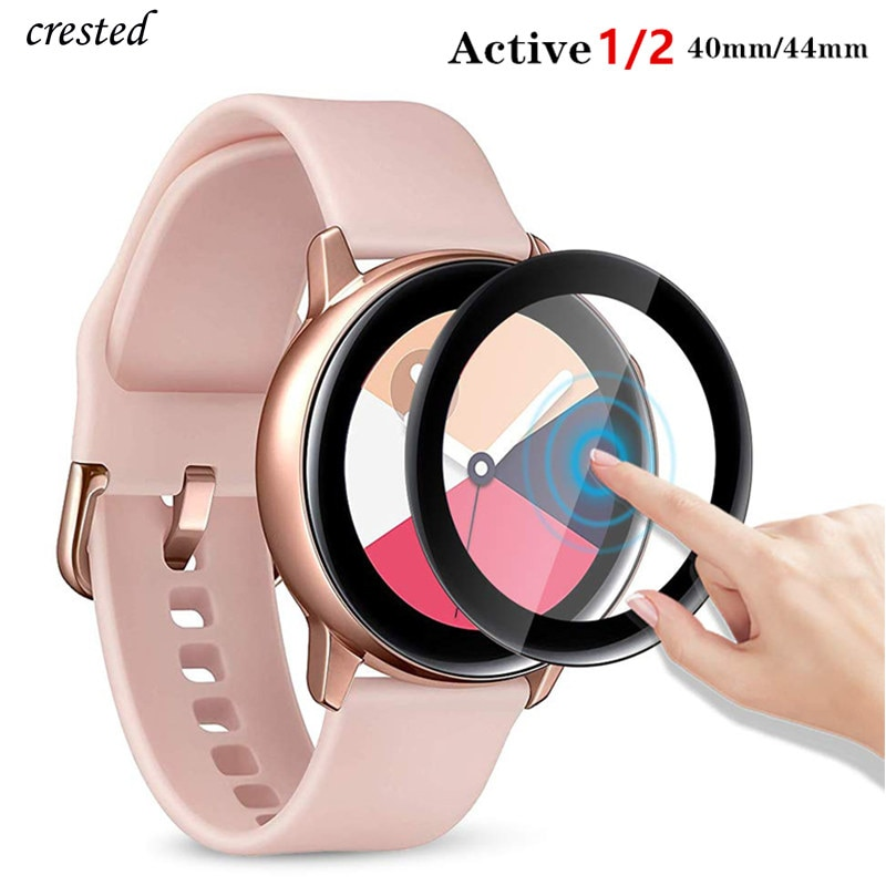 Glass For Samsung Galaxy Watch Active 2 44mm 40mm/46mm/42mm/3 45mm-41mm Gear S3 Frontier/S2/Sport 3D