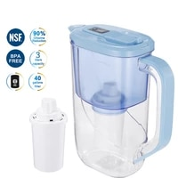 2 4l water pitcher filter household water jug activated carbon filter for health drink remove chlorinescaledepositsrust