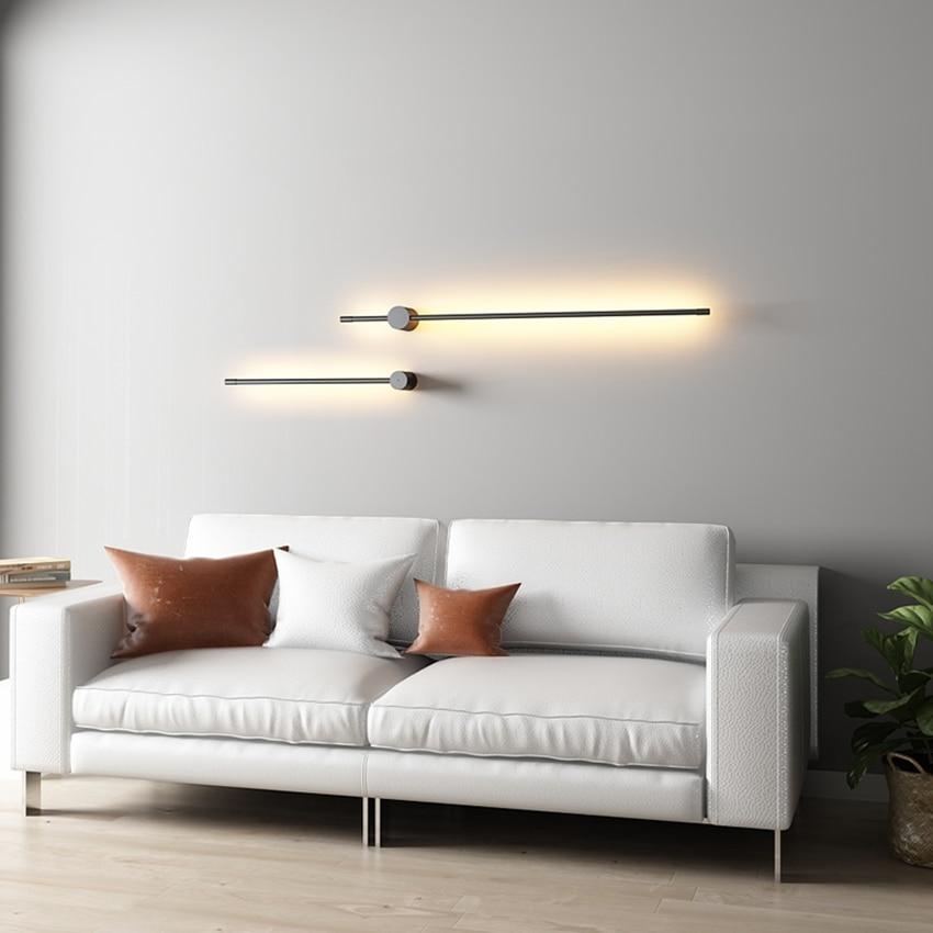 الشمال طويلة خط نوع وحدة إضاءة LED جداريّة أضواء الشمال وفت الإضاءة الاكريليك عاكس الضوء خلفية داخلي ديكور جدار مصابيح الممر امعة