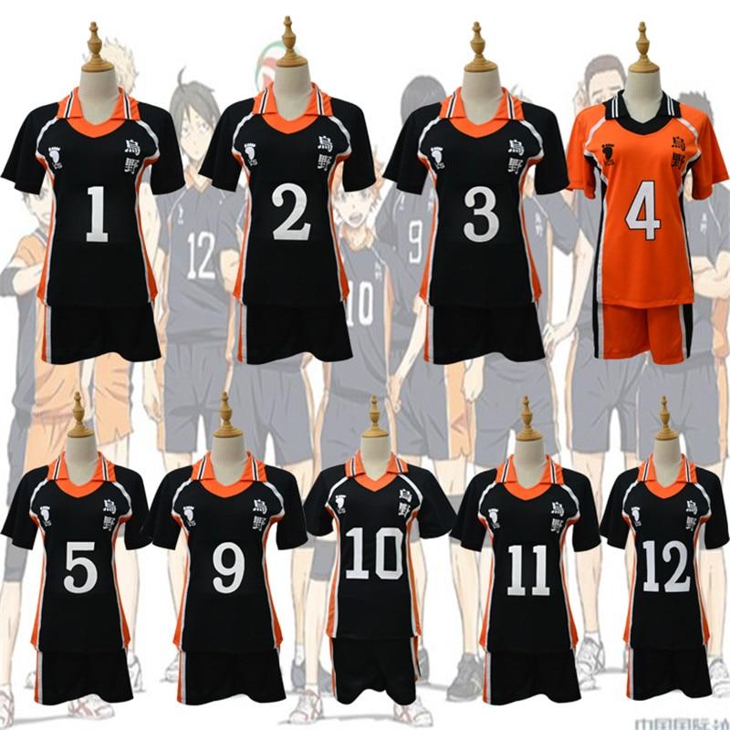 2020 New 9 Styles Haikyuu Cosplay Costume Karasuno High School Volleyball Club Hinata Shyouyou Sportswear Jerseys Uniform