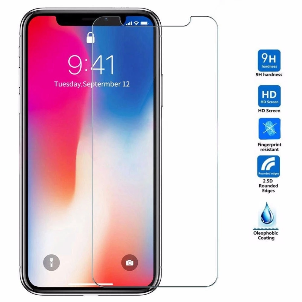 9H Tempered Glass For iPhone 11 Pro X XS Max XR 12 Mini Screen Protector