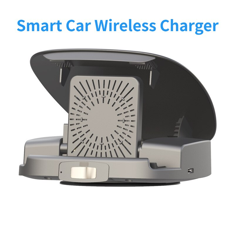 15W Wireless Charger Car Smart Phone Holder Fully Automatic Opening and Closing Multifunctional Car Charger for Huawei iPhone