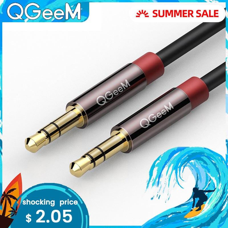 Cable auxiliar QGEEM para iPhone de coche, cable de audio estéreo macho a macho 3,5 jack a jack 3,5 cable auxiliar para auriculares, altavoz beat