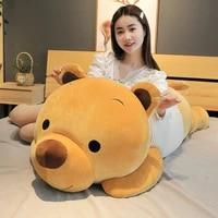 hot new soft cute cartoon lying plush stuffed bear big toys teddy doll lovely animal children birthday gift bear plush pillow
