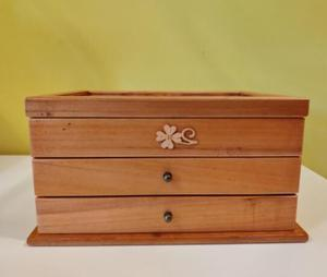 three layer organizer wood jewelry boxes Storage Box wood clover European wooden jewelry box special offer desk organizer