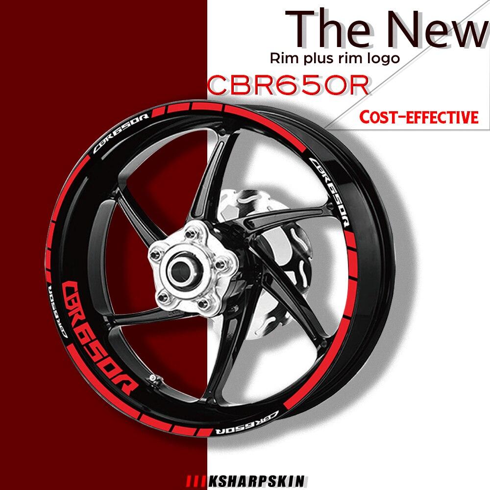 Motorcycle Wheel Rims Reflective Stickers Tire logo Decals moto sticker decorative Accessories set For HONDA CBR650R cbr 650r
