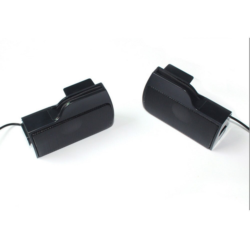 New 1 Pair of Portable Speakers Mini USB Multimedia Computer Laptop Audio Sounder Speakers 3W #H25