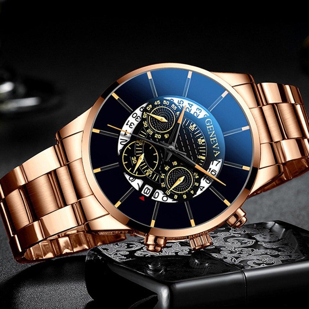 Fashion Cool Unique Digital Literal Multi Layer Dial Men Quartz Mesh Belt Watch Mechanical Waterproo