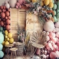 164pcs matte coral ginger balloon garland doubled apricot dusty pink green baby shower gender reveal birthday party supplies