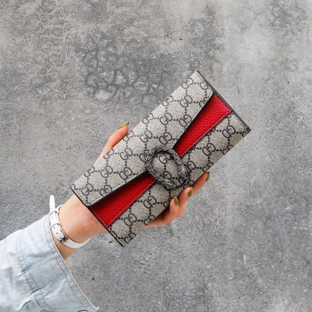 New Fashion European and American Women's Wallets Female Long Retro Wallet Clutch Bag Coin Purse Car