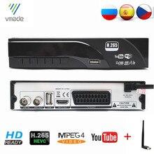 DVB-T2/T HD TV 튜너 1080P 디지털 지상파 수신기 디코더 지원 H.265 MPEG-2/4 돌비 AC3 + 미니 USB WIFI 동글 러시아어
