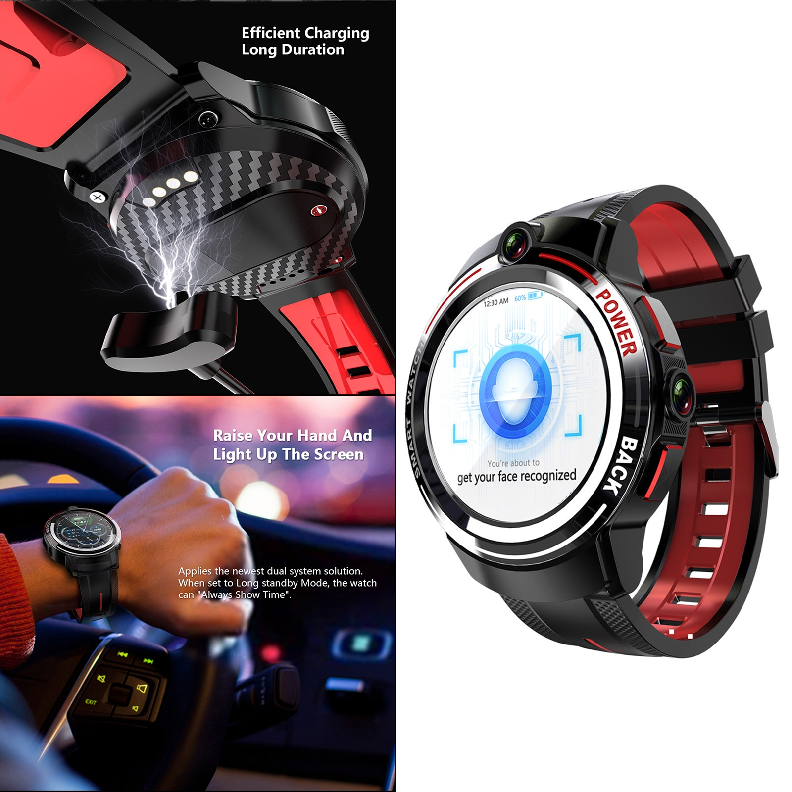 """Review 2021 New APPLLP 3 3G+32G 1.39"""" Round AMOLED Screen Smart Watch Wifi 4G Network Al Face Recognition Dual Camera Waterproof"""