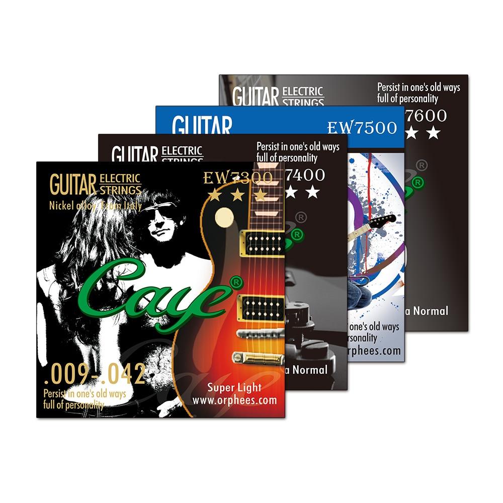 Orphee Caye EW cuerda de guitarra electrica s conjunto Rock Metal Hexagonal de acero al carbono cuerda de guitarra electrica conjuntos de accesorios de guitarra
