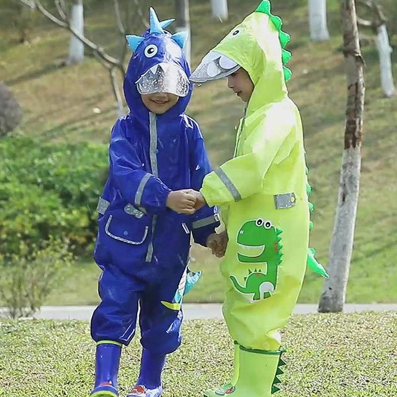 Animal Lion Raincoat For 1-6 years Kids Hood Waterproof Rain Coat Children Jumpsuit Suit Students Baby Poncho