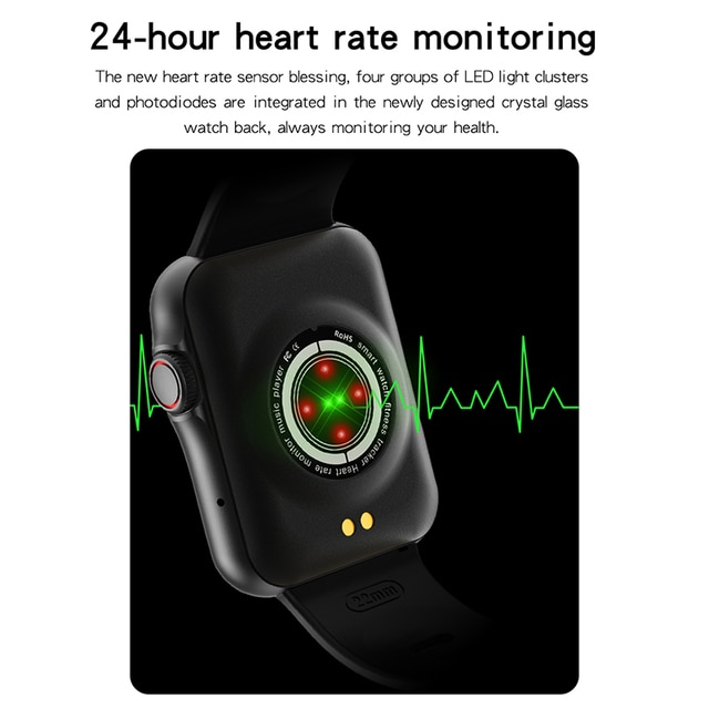 D06 Inch Big Full Touch HD Screen Smart Watch Sport Tracker Support Bluetooth Calling Heart Rate BP ECG With BT Music Playback 6